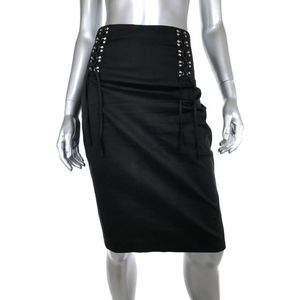Guess by Marciano 6 Pencil Skirt Black High Waist